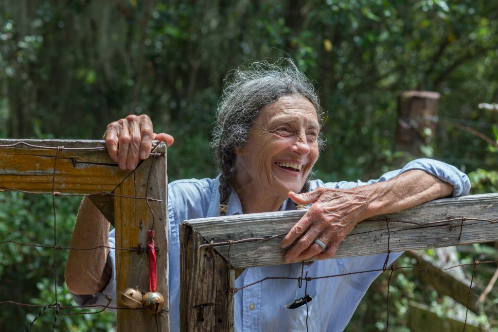Carol Ruckdeschel lives on the north side of Cumberland Island in a rustic homestead.Credit...Stephen B. Morton for The New York Times