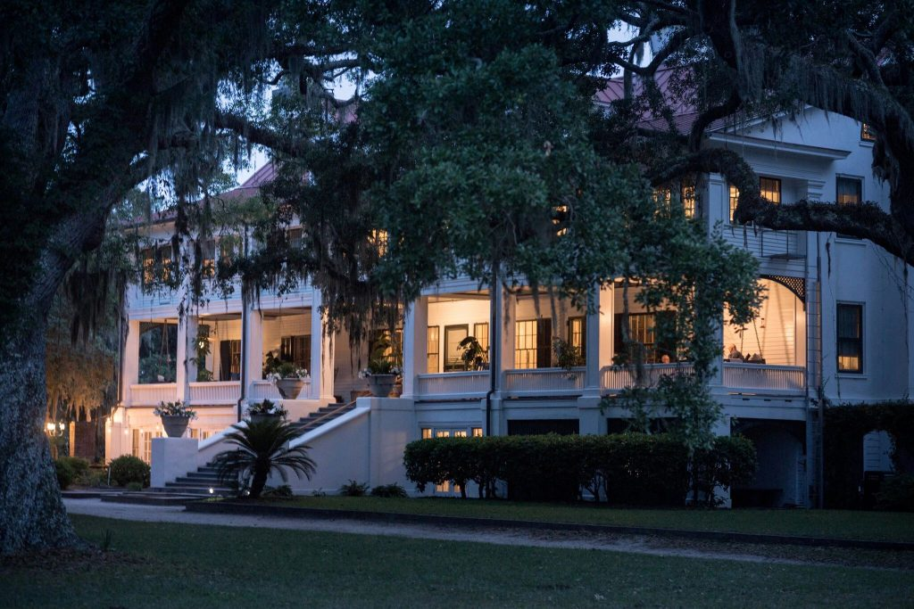 Cumberland Island's Greyfield Inn at sunset.Credit...Stephen B. Morton for The New York Times