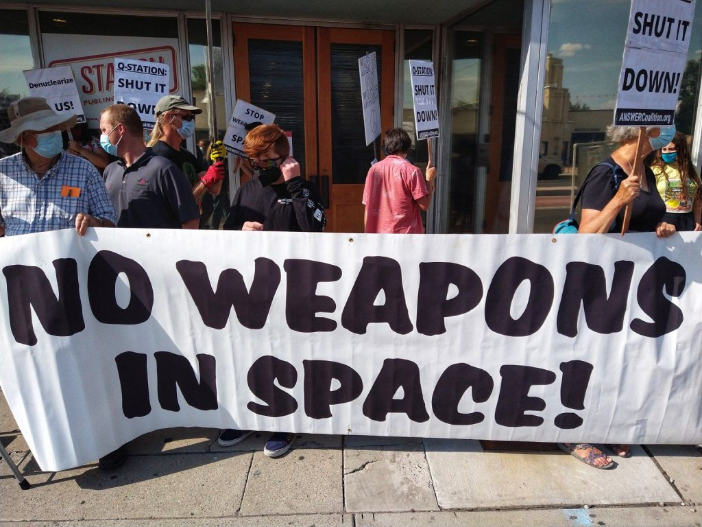 This image has an empty alt attribute; its file name is no_weapons_in_space_banner-1024x768.jpg