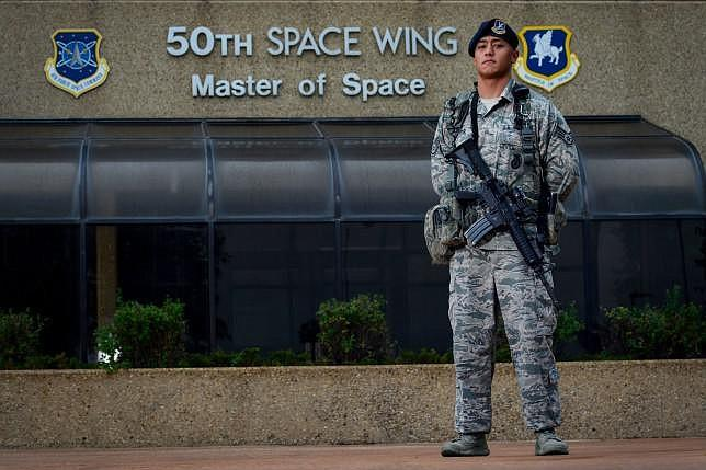Staff Sgt. Eric Proctor of the 50th Security Forces Squadron, responsible for the security and protection of Air Force Space Command assets on Schriever Air Force Base in Colorado, is pictured in this undated photo. [Source: kpbs.org]