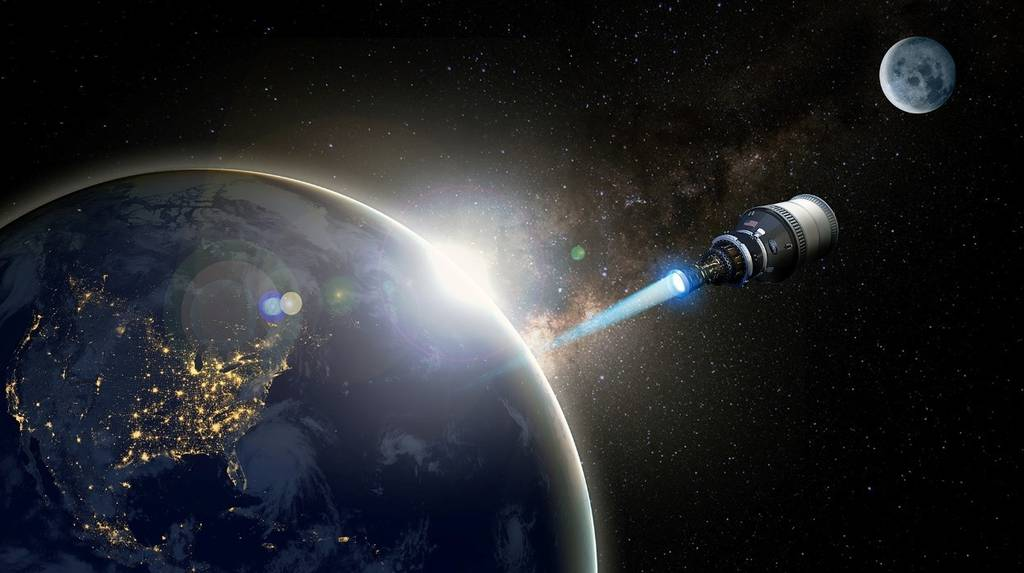 DARPA believes that nuclear-powered propulsion could enable rapid maneuver in space — a capability that is difficult to achieve with current electric and chemical propulsion systems. (Defense Advanced Research Projects Agency)