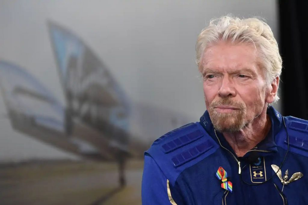 Sir Richard Branson speaks after he flew into space aboard a Virgin Galactic vessel © Getty Images