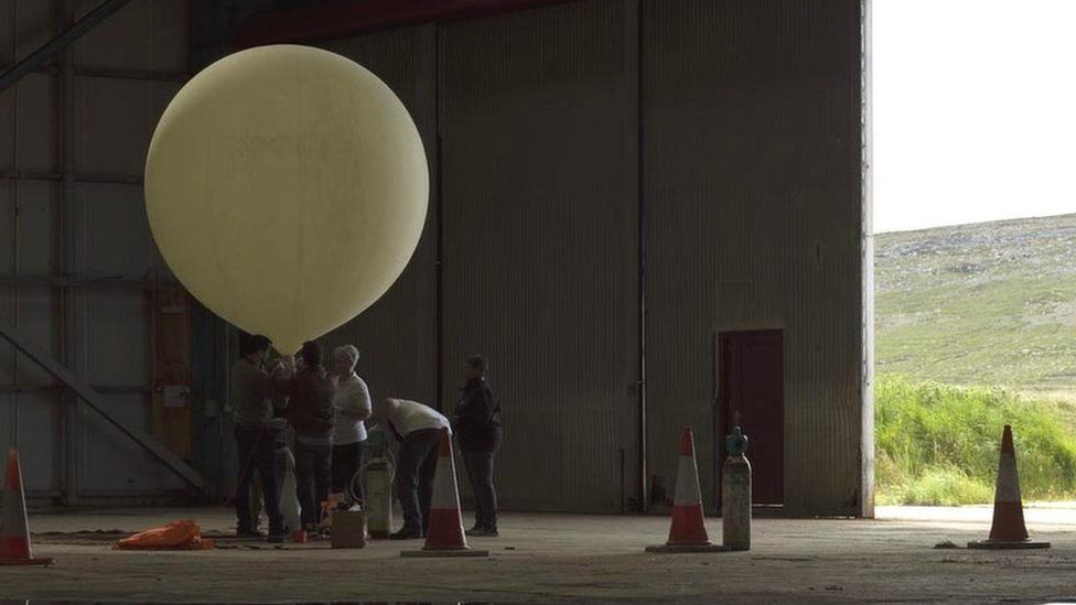 SaxaVord Spaceport's balloon launch in 2019