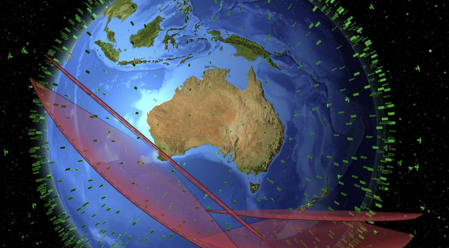 West Australian Space Radar conceptual field of view in LeoLabs Mapping and Analytics Platform. Credit: LeoLabs