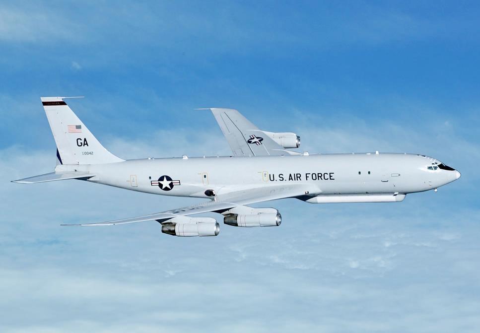 E8-C GMTI system, Credit: USAF