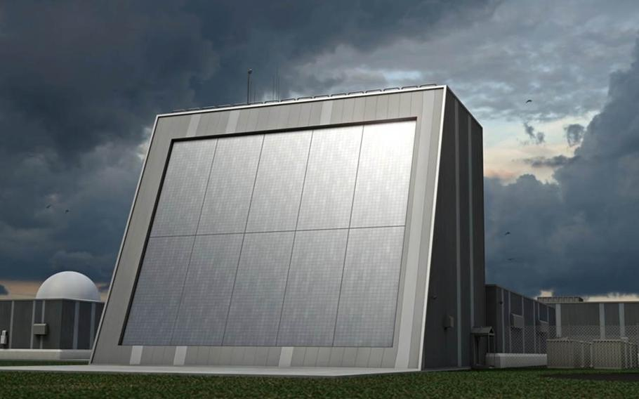 The Missile Defense Agency is seeking public feedback on potential locations in Hawaii for the Homeland Defense Radar, shown here in an artist's conceptual rendering. (Missile Defense Agency)