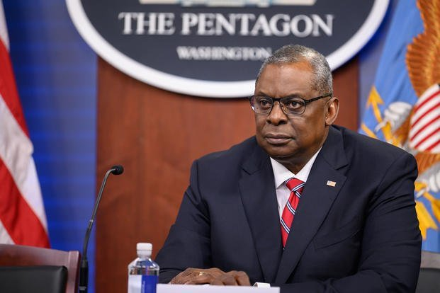 Secretary of Defense Lloyd J. Austin III conducts a Black chief executive officer roundtable talk, virtually, from the Pentagon, Washington, D.C., June 25, 2021. (Brittany A. Chase/DoD)