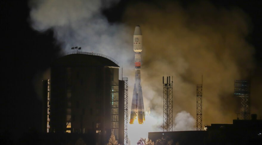 Arianespace's eighth launch for OneWeb expanded its constellation to 254 satellites. Credit: Roscosmos, Space Center Vostochny, TsENKI