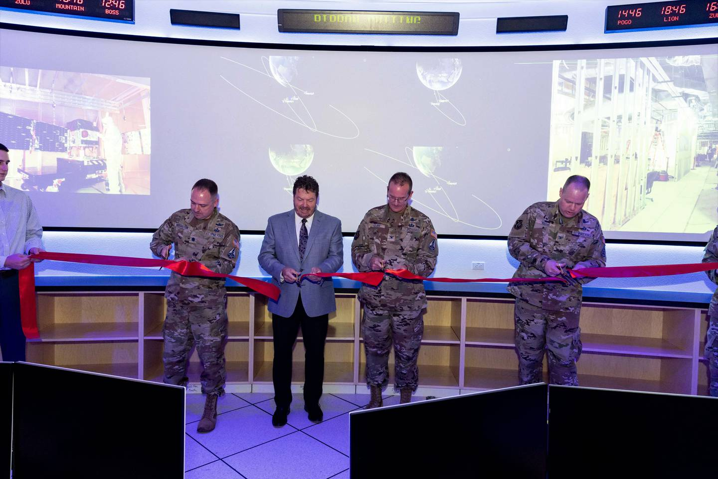 The Space and Missile Systems Center opened the new Rendezvous and Proximity (REPR) Satellite Operations Center at Kirtland Air Force Base on July 7, 2021. (U.S. Space Force)