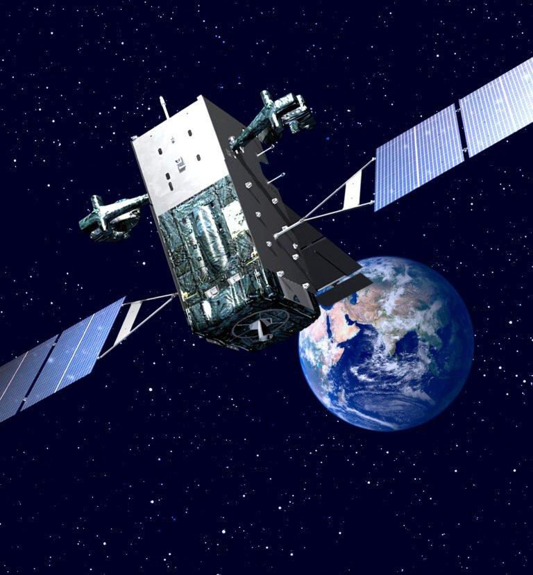 Space Based Infrared System (SBIRS) missile warning satellite, USAF image