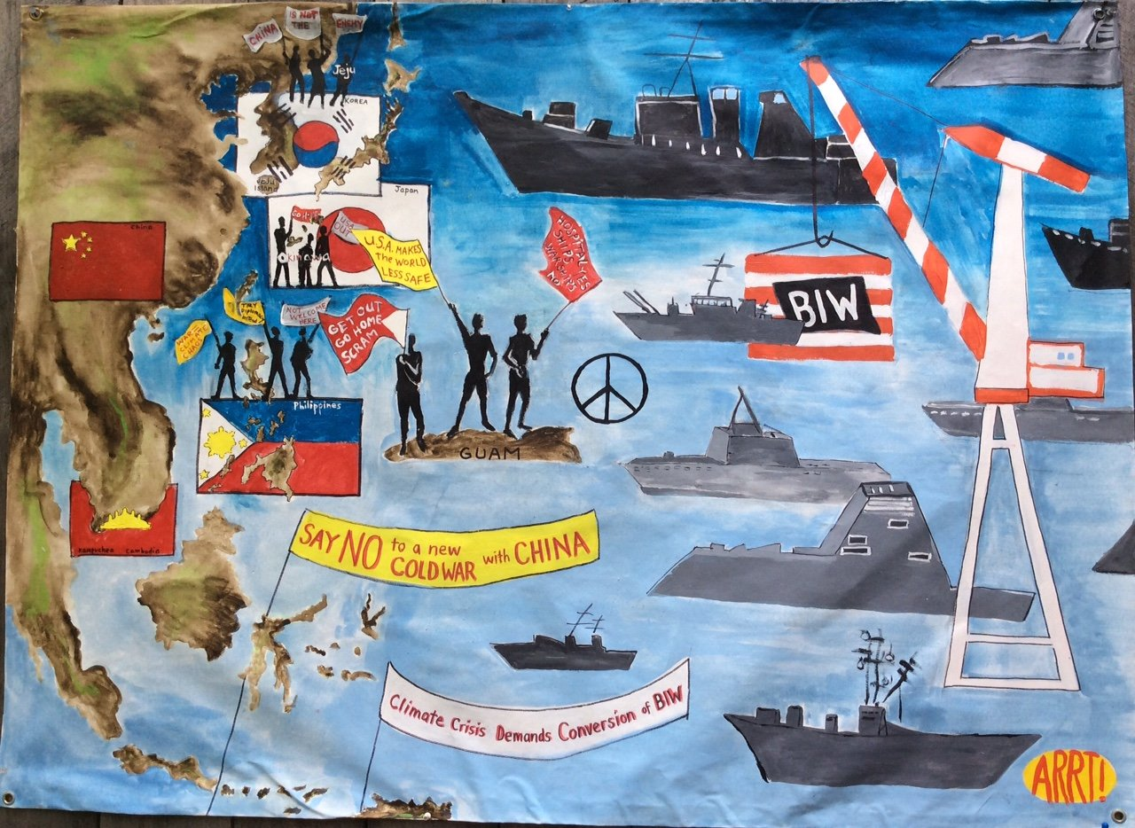 Another great banner made by ARRT! (Artist Rapid Response Team) here in Maine.