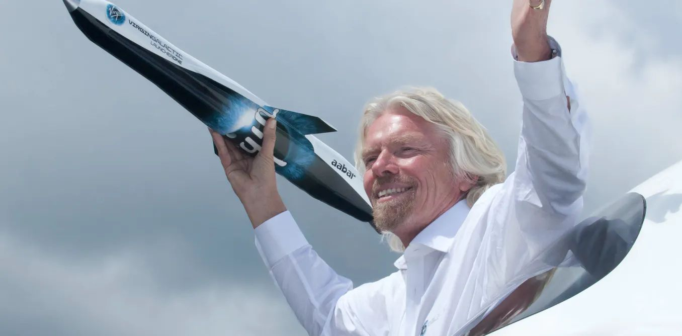 Virgin Group founder Richard Branson launches Virgin Galactic. Terry Caws/Alamy Stock Photo