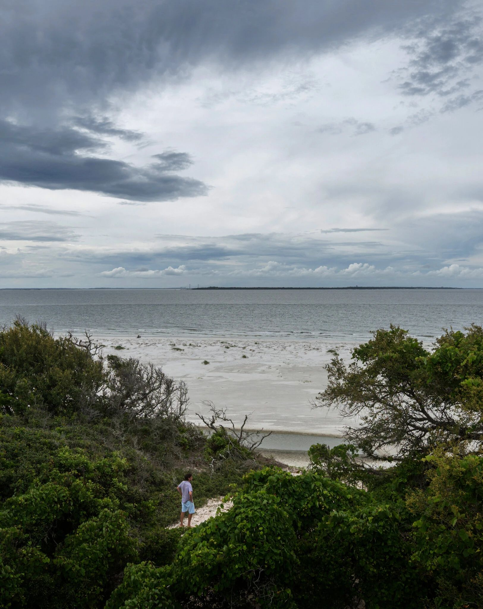 The view from the north side of Little Cumberland Island, which would be in the flight path of a proposed spaceport on Georgia's mainland.Credit...Stephen B. Morton for The New York Times