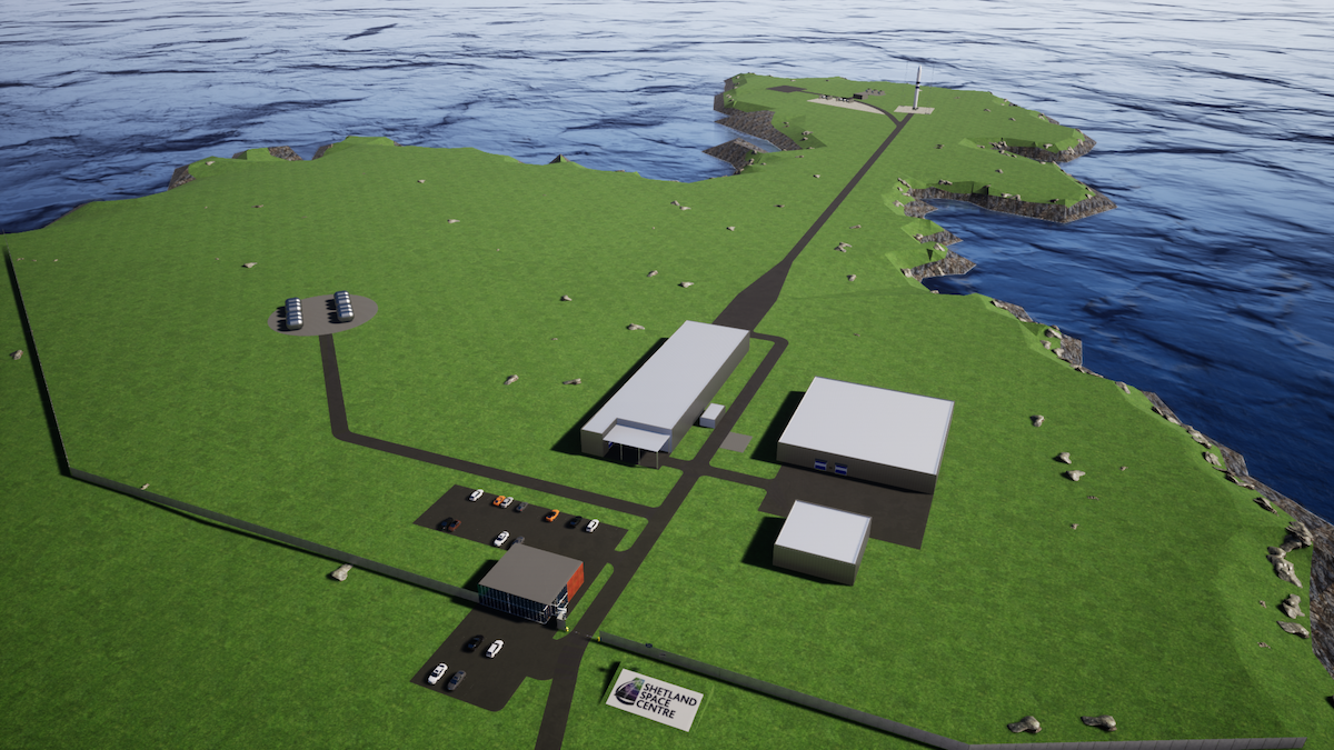 The space centre at Lamba Nessin Unst is expected to create hundreds of jobs in Shetland and further afield. Image: Shetland Space Centre