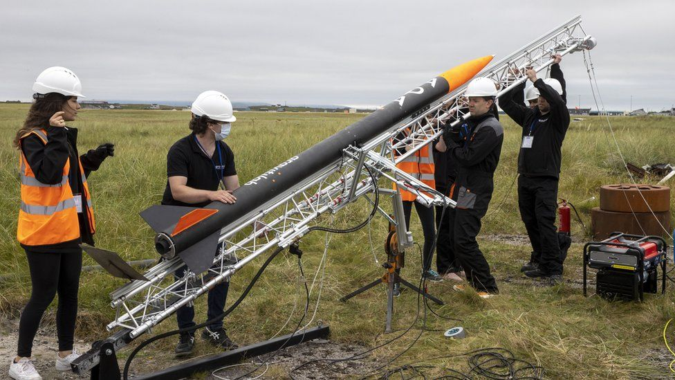 Flight test vehicle ADA was launched from Benbecula Airport