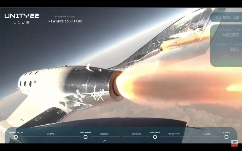 Hybrid rocket motors such as those used in Virgin Galactic's rocket planes emit a lot of soot. (Image credit: Virgin Galactic)