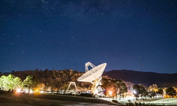 The Canberra Deep Space Communication Complex at Tidbinbilla. Australia and the US are cooperating on a range of space developments, including a crewed landing on the moon, as part of the Aukus pact. Photograph: Jonny Weeks/The Guardian